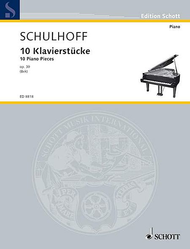 10 Piano Pieces op. 30 Sheet Music by Erwin Schulhoff