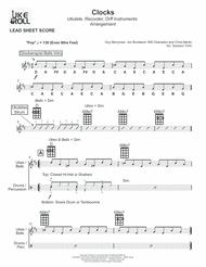 Clocks - Ukulele + Recorder + Orff Sheet Music by Coldplay