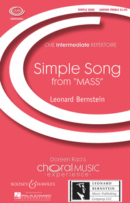 A Simple Song Sheet Music by Leonard Bernstein