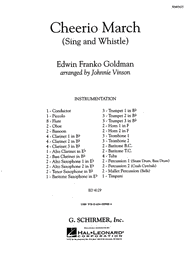Cheerio March (Sing and Whistle) Sheet Music by Edwin Franko Goldman