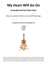 My Heart Will Go On for Trio String Sheet Music by Celine Dion