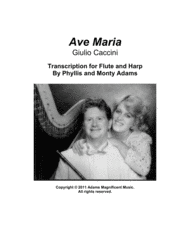 Ave Maria by Caccini for Flute & Harp (or piano) Sheet Music by G. Caccini