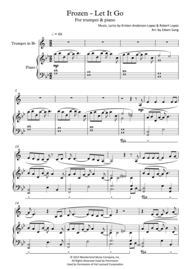 Frozen - Let It Go (for trumpet & piano