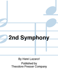 2nd Symphony Sheet Music by Henri Lazarof