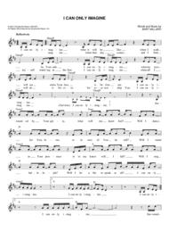 I Can Only Imagine Sheet Music by Bart Millard