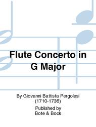 Flute Concerto in G Major Sheet Music by Giovanni Battista Pergolesi