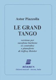 Le Grand Tango Sheet Music by Astor Piazzolla