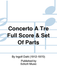 Concerto a tre Sheet Music by Ingolf Dahl