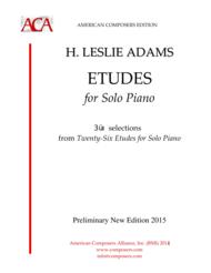 [Adams] Etudes for Solo Piano