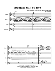 Somewhere Only We Know - String Quartet Sheet Music by Keane