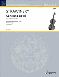 Concerto en re - Concerto in D Sheet Music by Igor Stravinsky