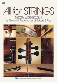 All For Strings - Theory Workbook 1 (Violin) Sheet Music by Gerald E. Anderson