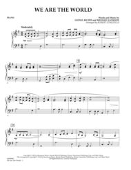 We Are The World - Piano Sheet Music by Lionel Richie