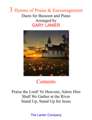 3 Hymns of Praise & Encouragement (Duets for Bassoon and Piano) Sheet Music by ROWLAND H. PRICHARD