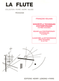 Sonorite Et Techniques Contemporaines Sheet Music by Francois Veilhan
