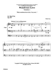 Variations On Wondrous Love Sheet Music by Robert Lau