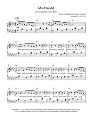 Mad World Sheet Music by Gary Jules