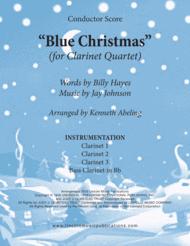 Blue Christmas (for Clarinet Quartet) Sheet Music by Elvis Presley