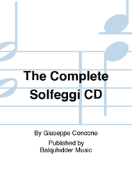The Complete Solfeggi - CD Sheet Music by Giuseppe Concone