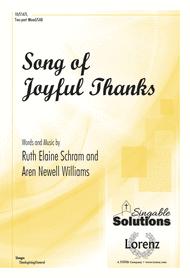 Song of Joyful Thanks Sheet Music by Ruth Elaine Schram