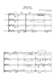 Reflection from Disney's Mulan (string quartet) Sheet Music by David Zippel