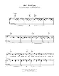 Bird Set Free Sheet Music by Greg Kurstin