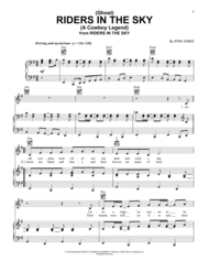 (Ghost) Riders In The Sky (A Cowboy Legend) Sheet Music by Stan Jones