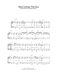 Here Comes The Sun Sheet Music by George Harrison