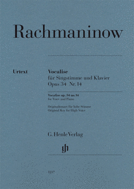 Vocalise Op. 34 Nr. 14 for voice and piano Sheet Music by Sergei Rachmaninoff