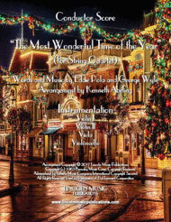 The Most Wonderful Time of the Year (for String Quartet) Sheet Music by George Wyle & Eddie Pola