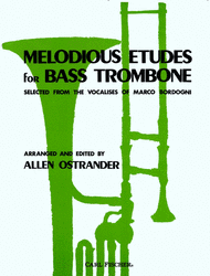 Melodious Etudes For Bass Trombone Sheet Music by Giovanni Marco Bordogni