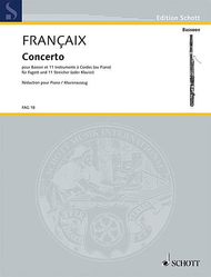 Concerto Sheet Music by Jean Francaix