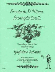 Sonata in dm (Sabatini) Sheet Music by Arcangelo Corelli