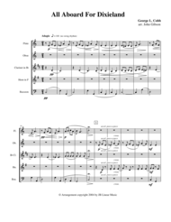 All Aboard for Dixieland for Woodwind Quintet Sheet Music by George Cobb