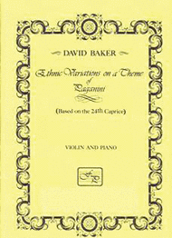 Ethnic Variations on a Theme of Paganini Sheet Music by David Baker