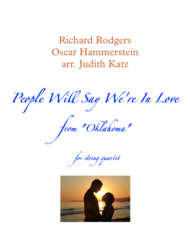 People Will Say We're In Love - for string quartet Sheet Music by Rodgers & Hammerstein