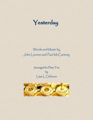 Yesterday for Flute Trio Sheet Music by The Beatles