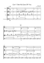 Can't Take My Eyes Off Of You (string quartet) Sheet Music by Frankie Valli