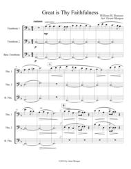 Great Is Thy Faithfulness - Trombone Trio Sheet Music by William Runyan