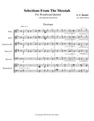 Handel's Messiah Selections for Woodwind Quintet Sheet Music by Georg F. Handel