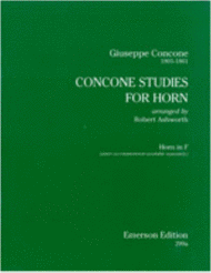 Concone Studies For Horn Sheet Music by Giuseppe Concone