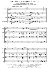 I've Got You Under My Skin for String Quartet Sheet Music by Cole Porter