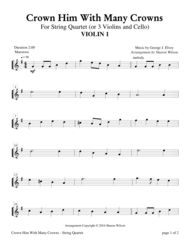 Crown Him With Many Crowns (String Quartet) Sheet Music by George Job Elvey