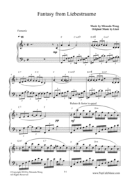 Liebestraum (Dreams of Love) - Fantasy from Liebestraume for Piano Solo Sheet Music by Liszt & Miranda Wong