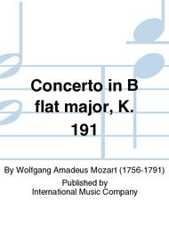 Concerto in B flat major