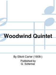 Woodwind Quintet Sheet Music by Elliott Carter