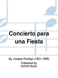 Concierto para una Fiesta Sheet Music by Joaquin Rodrigo