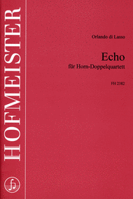 Echo Sheet Music by Orlande De Lassus