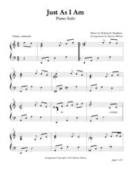 Just As I Am (Piano Solo) Sheet Music by William B. Bradbury