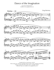 Dance of the Imagination Sheet Music by Greg Maroney